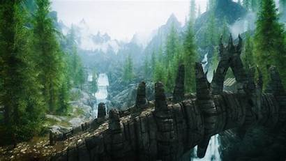 Skyrim Landscape Resolution 1080p Gamers Title Wallpapers