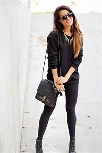 25 best images about Outfit on Pinterest | White cardigan Black leggings and Black coats