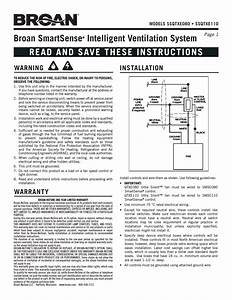 Broan Ssqtxe080 User Manual