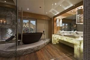 le pierre et deco original pour l39interieur archzinefr With salle de bain design avec cheminée décorative