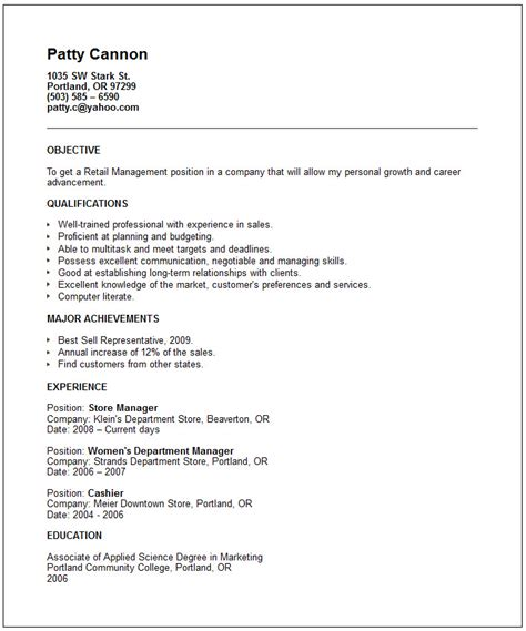 retail sales representative resume sle images