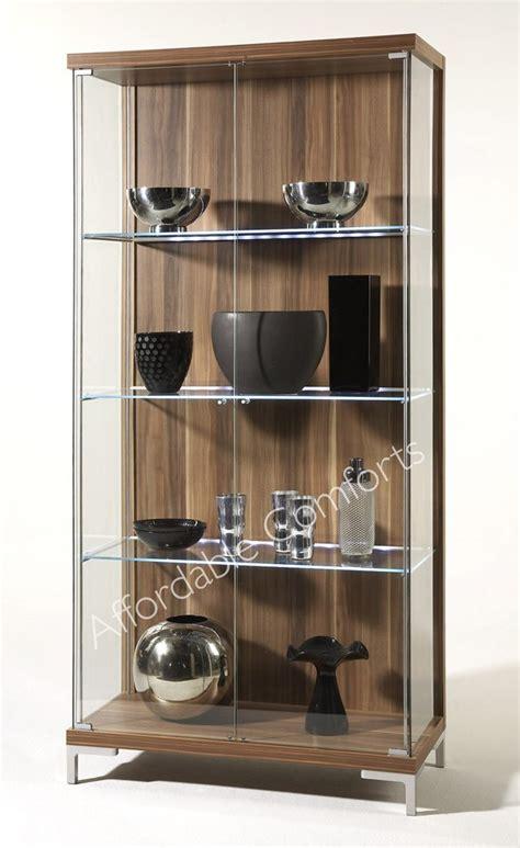 large glass display cabinet led shelf lighting singles
