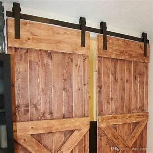2018 10ft new double wood sliding barn door hardware With 3 foot barn door