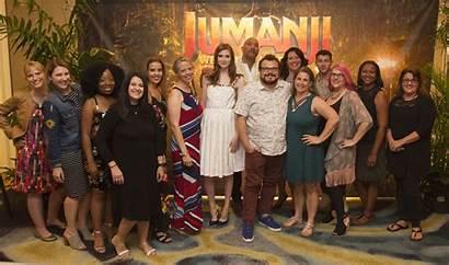 Jumanji Cast Jungle Welcome Interview Action Actors