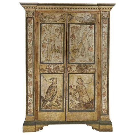 italian baroque painted armoire for sale at 1stdibs