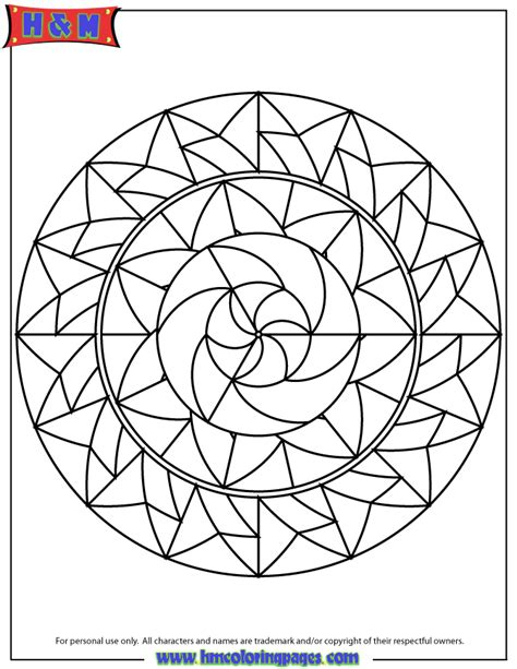 geometric shapes mandala coloring page   coloring pages