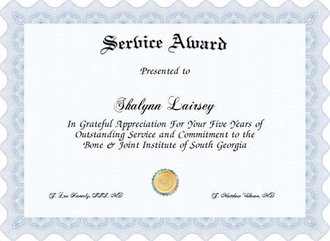 service award certificate created  certificatefuncom