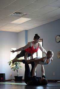 Acro yoga, flyers are in bird pose | Yoga | Pinterest