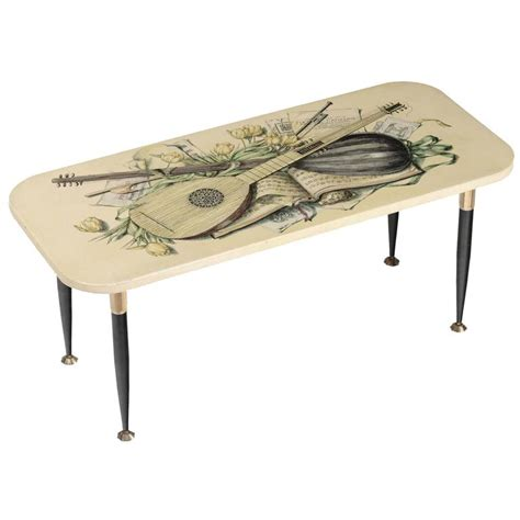 small metal table l fornasetti small table made in lacquered metal and brass
