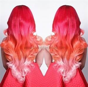 "LOVE this pink orange ombre hair (when my hair is ""mermaid ..."
