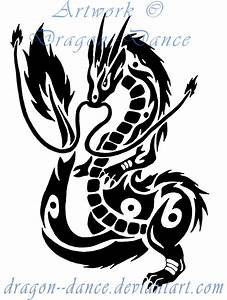 Tribal Oriental Dragon Commission by DansuDragon on DeviantArt