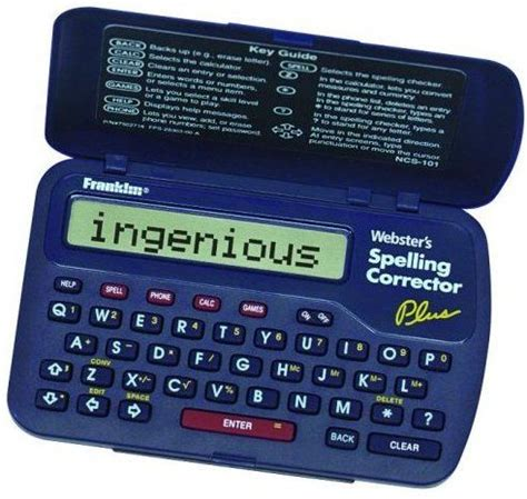 Franklin Ncs101 Spelling Corrector, Phonetic Spell Correction For Over 110,000 Words, Rolodex