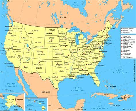 Carte Etats Unis Canada Avec Villes carte des usa etats unis cartes du relief villes