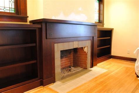 Craftsman Style Built In Bookcases by Craftsman Style Mantel Bookcases Thisiscarpentry Built