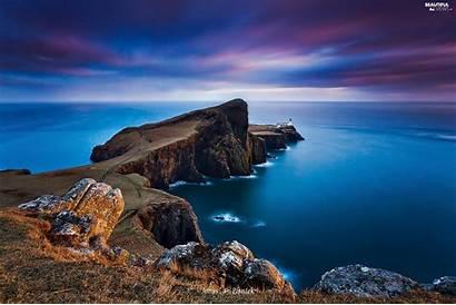 Isle Skye Scotland Neist Lighthouse Point Sea