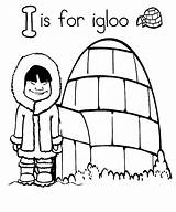 Igloo Coloring Pages Drawing Letter Template Worksheets Sketch Getdrawings sketch template