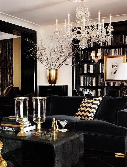 And Black Living Room Decor by Black Gold And White Interior Design Decor Ideas