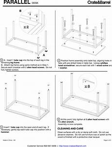 Crate Barrel 756 Parallel Desk Assembly Instructions From And