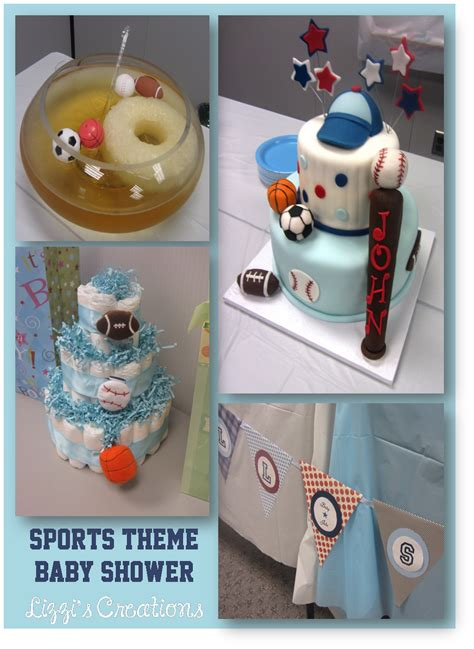 lizzis creations sports theme baby shower