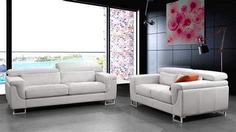 canape design cuir blanc  places canape pas cher