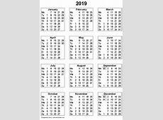 2019 calendar pdf Olalapropxco