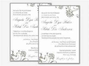 Free wedding invitation templates for word 2007 for Wedding invitation word template 2007