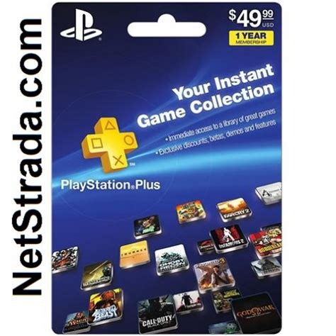 sony playstation month subscription card ps