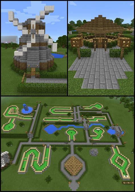 Garden Decoration Minecraft by Minecraft Windmill Mini Golf Course Water