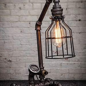 Lampe Chevet Industrielle : lampe chevet industrielle petite lampe de salon triloc ~ Teatrodelosmanantiales.com Idées de Décoration