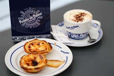 pastries parapets  afternoon  belem portugal
