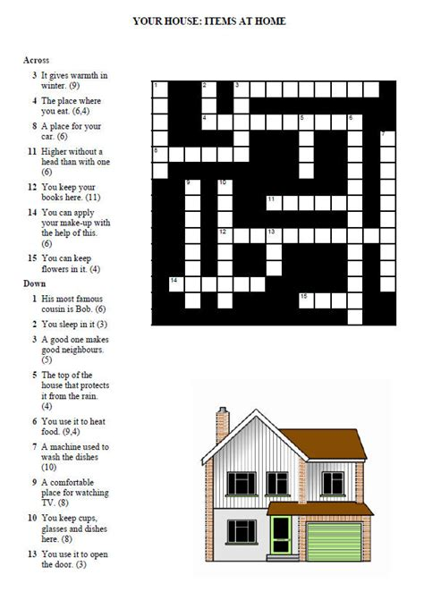 house crossword