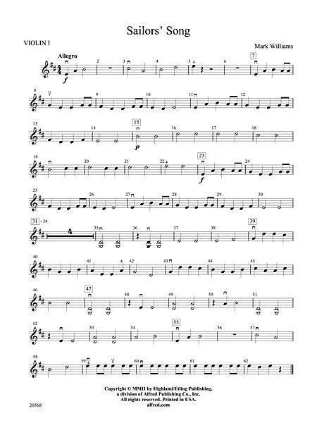 Sailor Song Violin Sheet Music