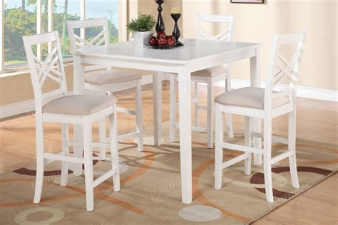 bar height table 6 chairs white 7pc dining set of table 6 counter height framed