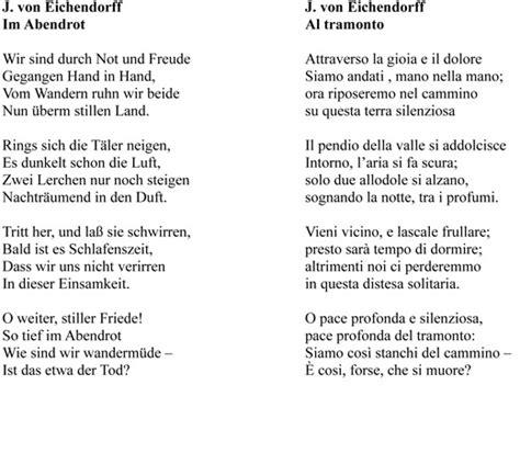 Testo In Tedesco Cantami Un Lied