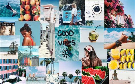 Wallpaper Computer Collage by Summer Vibes Macbook Wallpaper Laptop Walllpaper In 2019