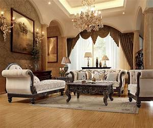 Luxurious, Traditional, Style, Formal, Living, Room, Furniture, Sofa, U0026, Chaise, Lounge