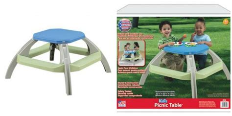 Kid's Picnic Table From American Plastic Toys! Chain Link Fence Plastic Slats Pants Clear Zip Storage Bags Jumbo Recycling Into Crafts Ball Valves Uk Make Custom Molds Kitchenware