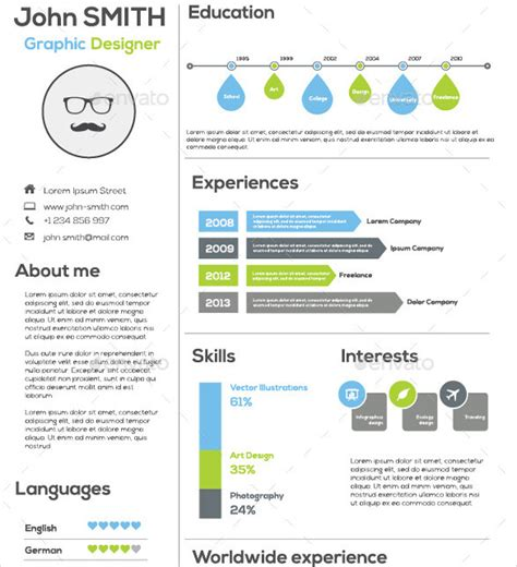cv infography template infographic resume template for successful job application