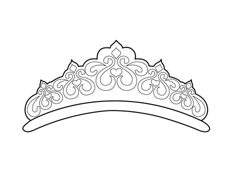 Free Printable Tiara Template by Beautiful Tiara Coloring Page For Printable Free