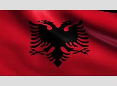 Flag Of Albania [4K Loopable] Albanian Flag Waving In The