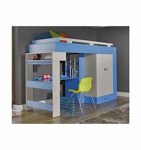 Lit Bureau Enfant : lit combin bureau enfant libellule bleu mobiler d 39 enfant mobilier design ~ Teatrodelosmanantiales.com Idées de Décoration
