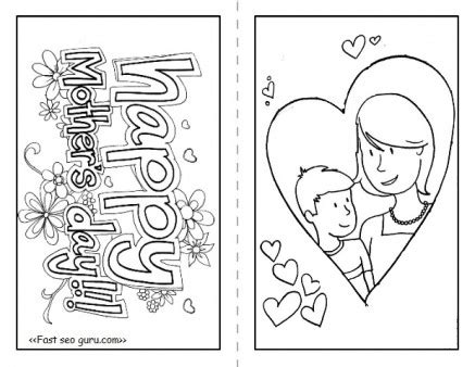 happy mothers day cards  print  color  printable coloring pages  kids