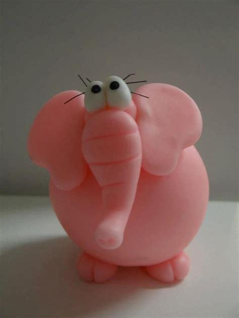 elefanta porcelana fria polymer clay fimo modelado figurine topper pasta francesa masa