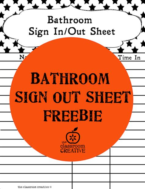 printable bathroom sign out sheet for classroom 30 classroom organization ideas and free printables