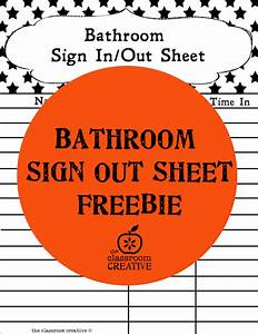 30 classroom organization ideas and free printables for Bathroom signs for classroom
