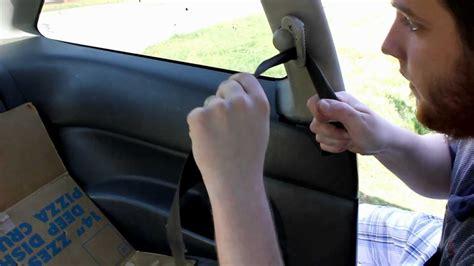 fix slow retracting  stuck seat belt youtube