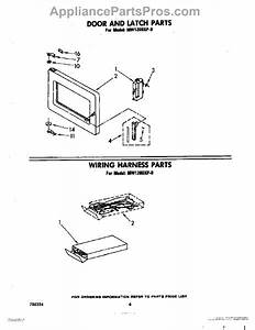 Parts For Whirlpool Mw1200xp0  Door And Latch  Wiring