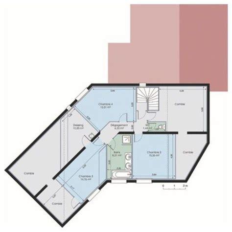 plan de maison en v plain pied 4 chambres villa spacieuse traditionnelle dé du plan de villa