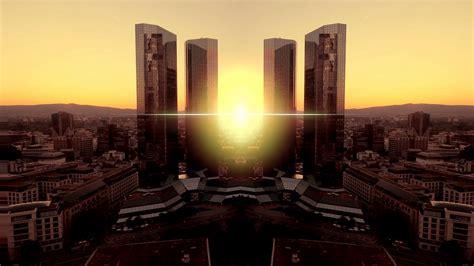 modern futuristic building. real estate. city urban ...