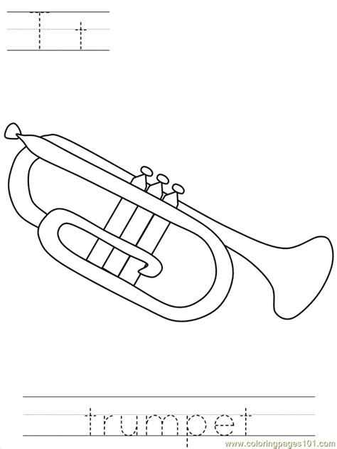 veterans daybposter trumpet coloring page  holidays